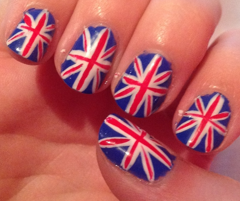 Olympic Nail Art A Sparkling Finish