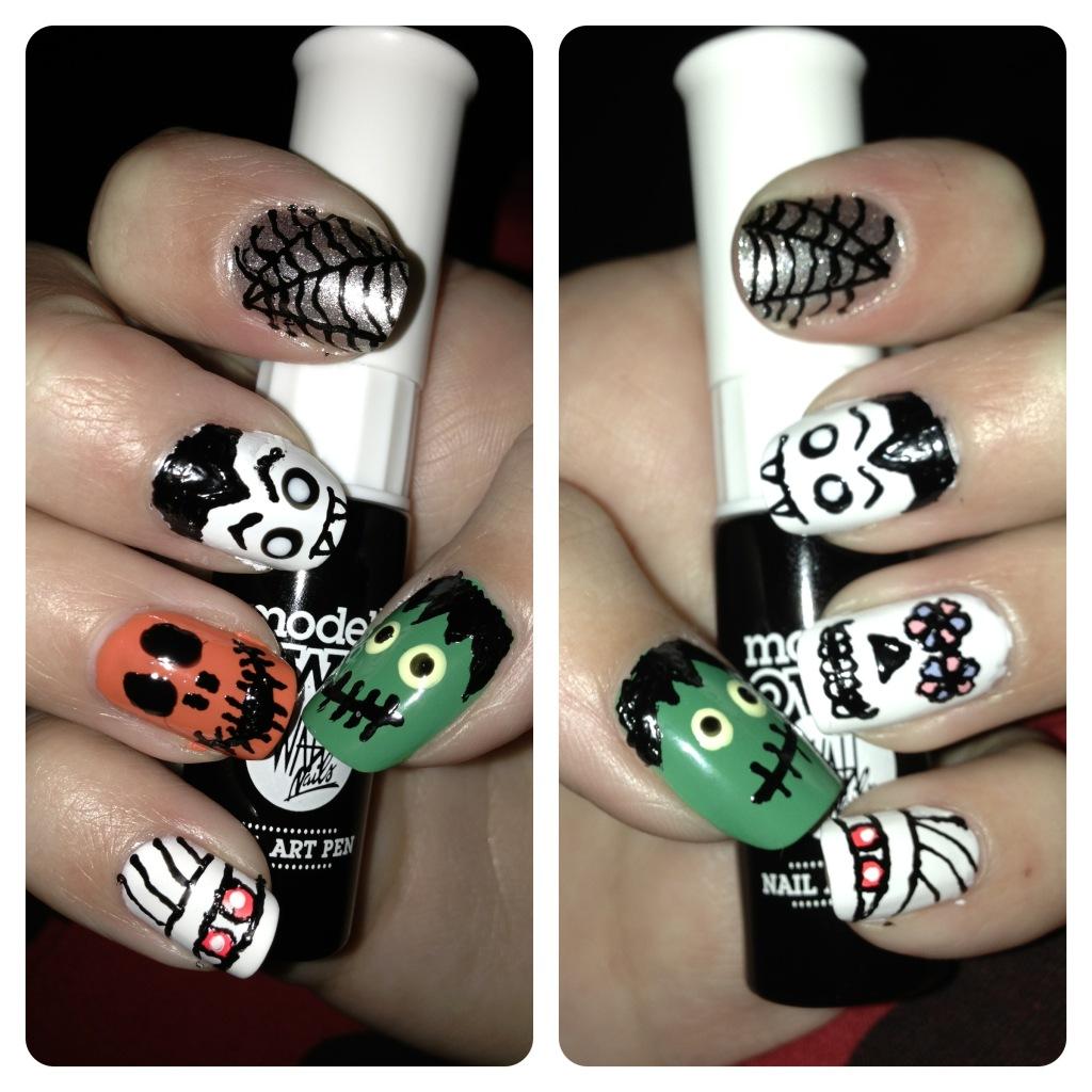 Halloween Nail Art A Sparkling Finish